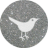 twitter silver round social media icon